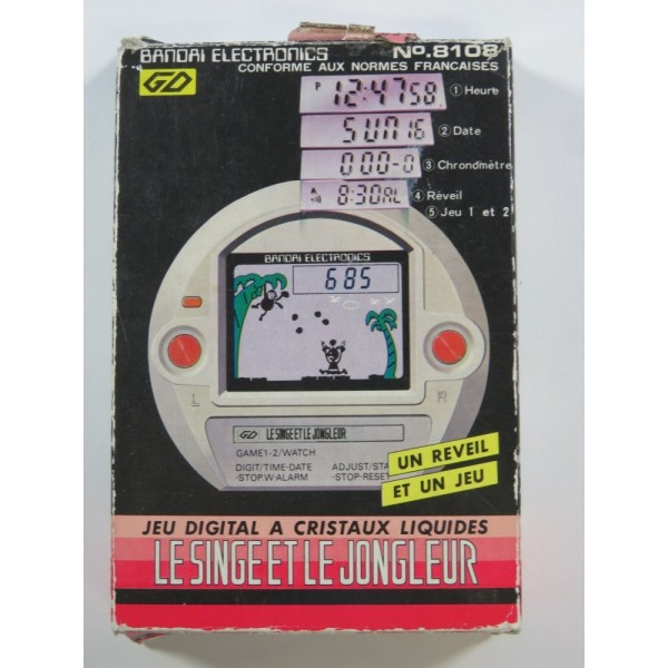 BANDAI ELECTRONICS LE SINGE ET LE JONGLEUR (WITHOUT MANUAL - GREAT CONDITION)