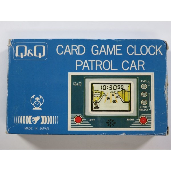 CARD GAME CLOCK PATROL CAR (WITHOUT MANUAL - GREAT CONDITION) (LCD GAME Q&Q)