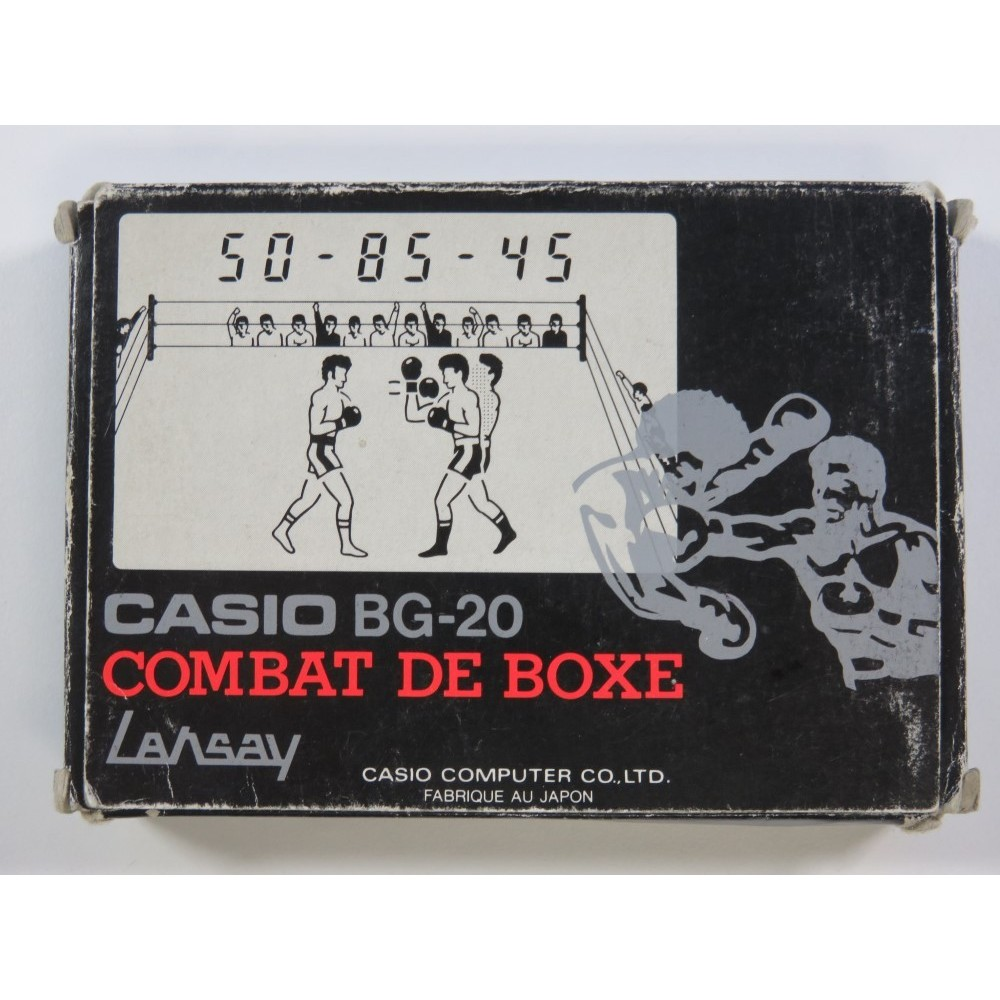 CASIO BG-20 COMBAT DE BOXE (COMPLETE WITH MANUAL - VERY GOOD CONDITION) VINTAGE GAME LANSAY
