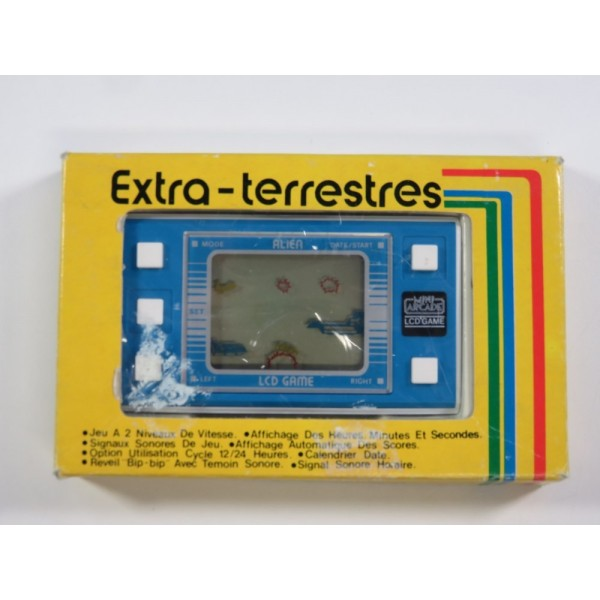 LCD GAME EXTRA-TERRESTRES (MODEL ALIEN) (COMPLETE WITH MANUAL - GOOD CONDITION)