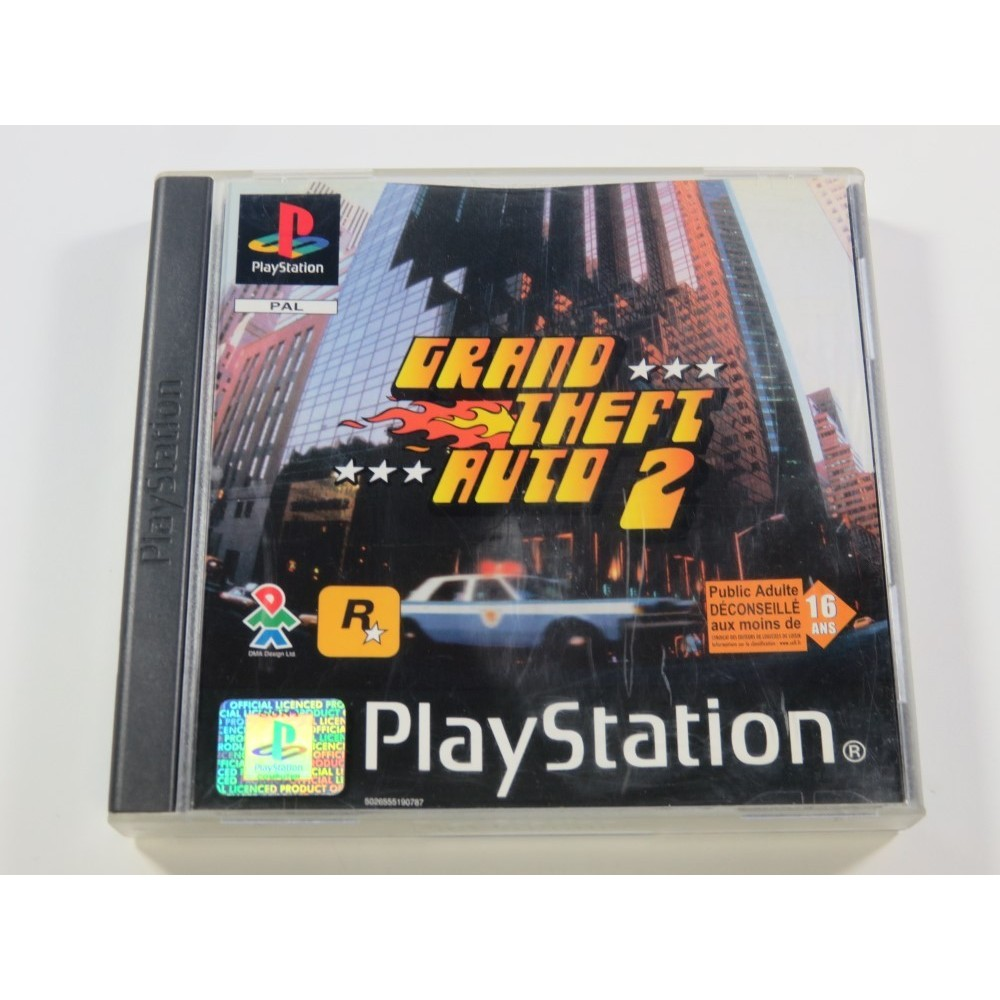 GRAND THEFT AUTO 2 PLAYSTATION 1 (PS1) PAL-FR (COMPLETE WITH MAP - VERY GOOD CONDITION)