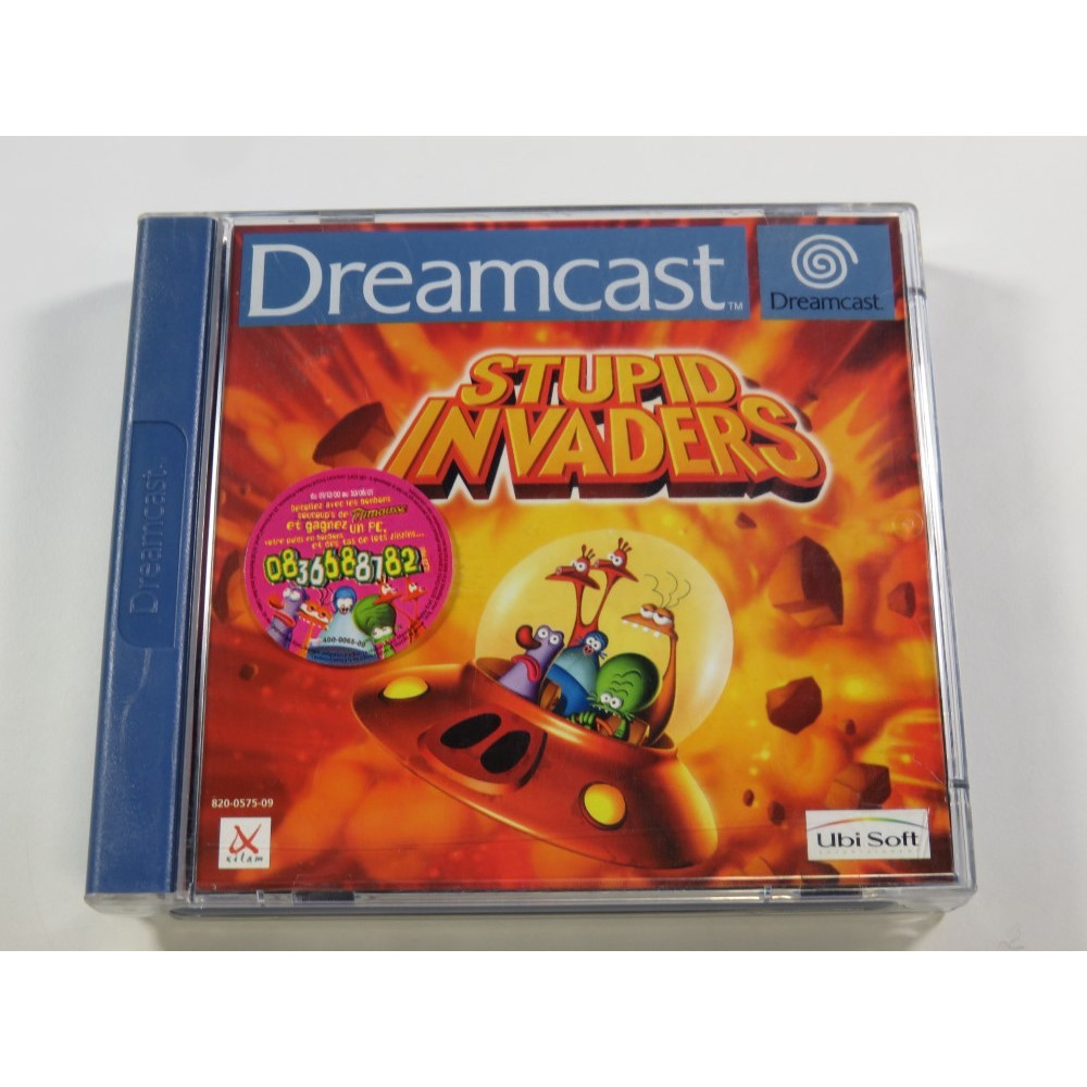 STUPID INVADERS SEGA DREAMCAST PAL-FR (COMPLETE - VERY GOOD CONDITION)