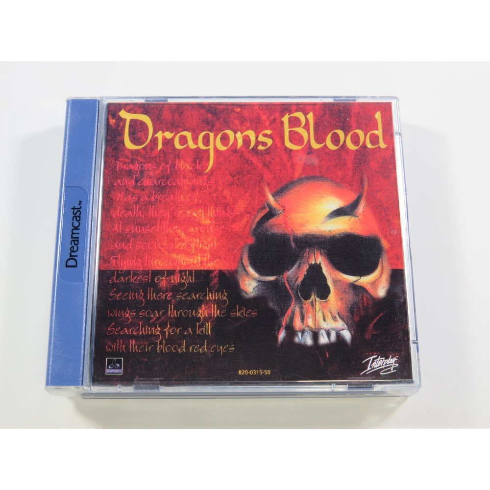 DRAGONS BLOOD SEGA DREAMCAST PAL-EURO (COMPLETE - VERY GOOD CONDITION)