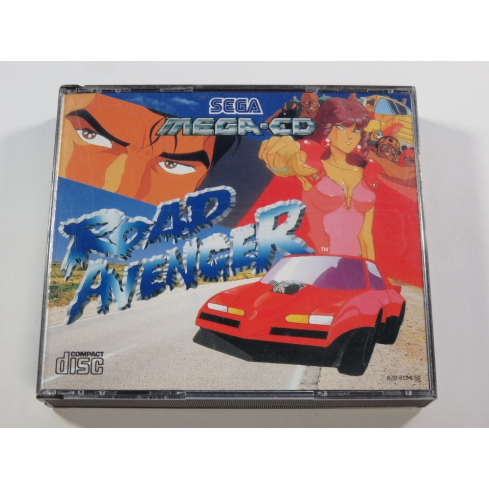 ROAD AVENGER SEGA MEGA-CD PAL-EURO (SANS NOTICE - WITHOUT MANUAL)