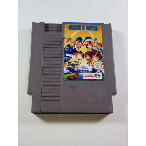 NORTH AND SOUTH NINTENDO NES PAL-B FAH-1 (CARTRIDGE ONLY - DAMAGED CARTRIDGE)