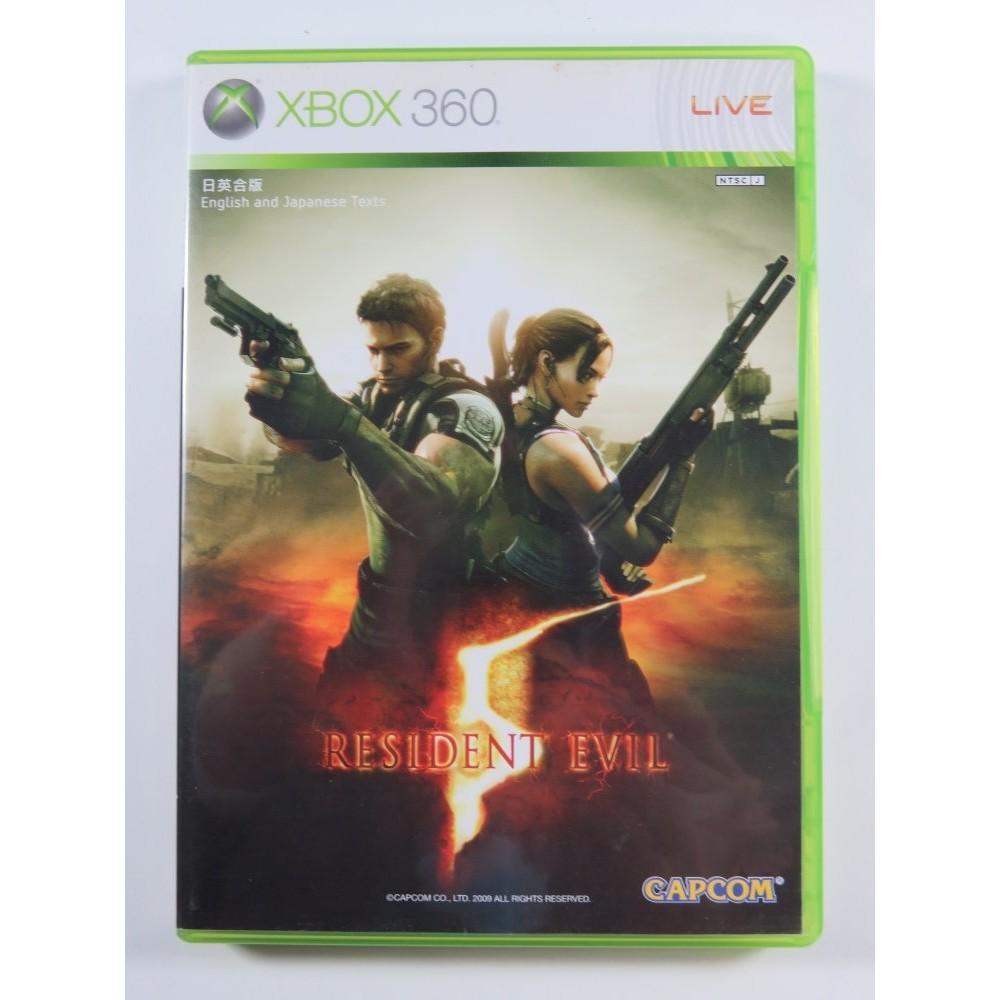 RESIDENT EVIL 5 XBOX-360 NTSC-JPN (ASIAN VERSION) - (REGION FREE - TEXTE FR)