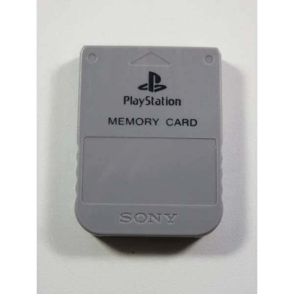 MEMORY CARD - CARTE MEMOIRE SONY PLAYSTATION 1 (PS1) SCPH - 1020 GREY (MEMORY CARD ONLY - GOOD CONDITION)
