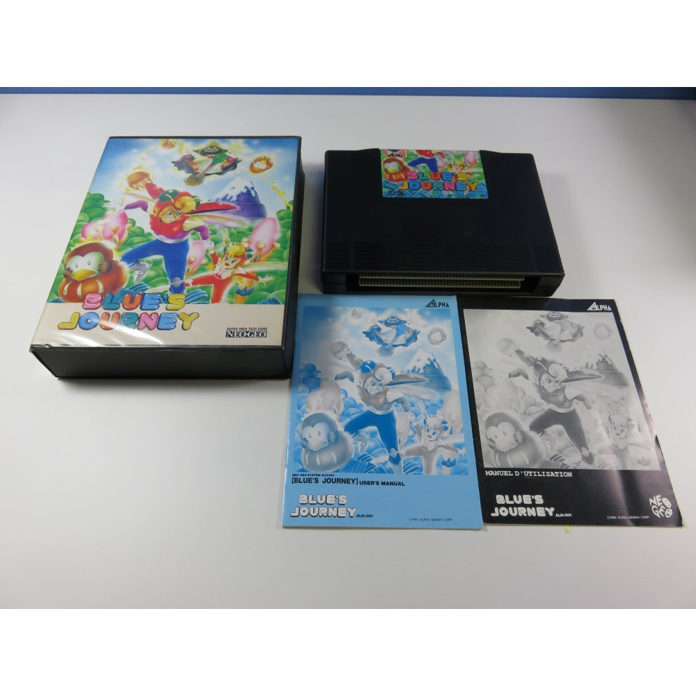 BLUE S JOURNEY SNK NEO GEO AES USA (COMPLET - GOOD CONDITION)(IMPORT EUROPE - DOUBLE NOTICE - GUILLEMOT)
