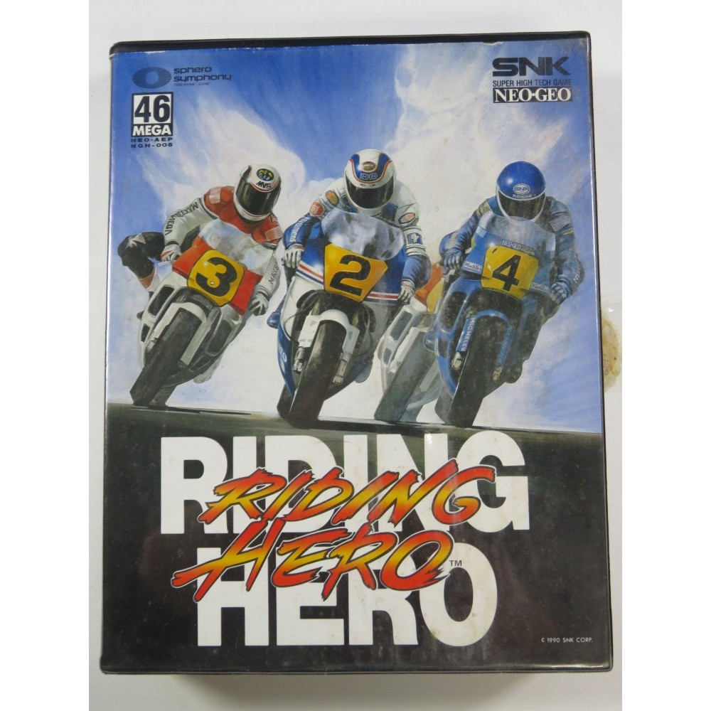 RIDING HERO NEOGEO AES USA (COMPLETE - GOOD CONDITION OVERALL)
