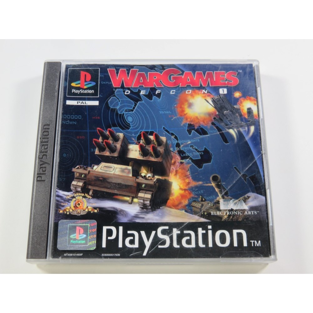 WARGAMES DEFCON 1 PLAYSTATION (PS1) PAL-FR (COMPLETE - GOOD CONDITION OVERALL)