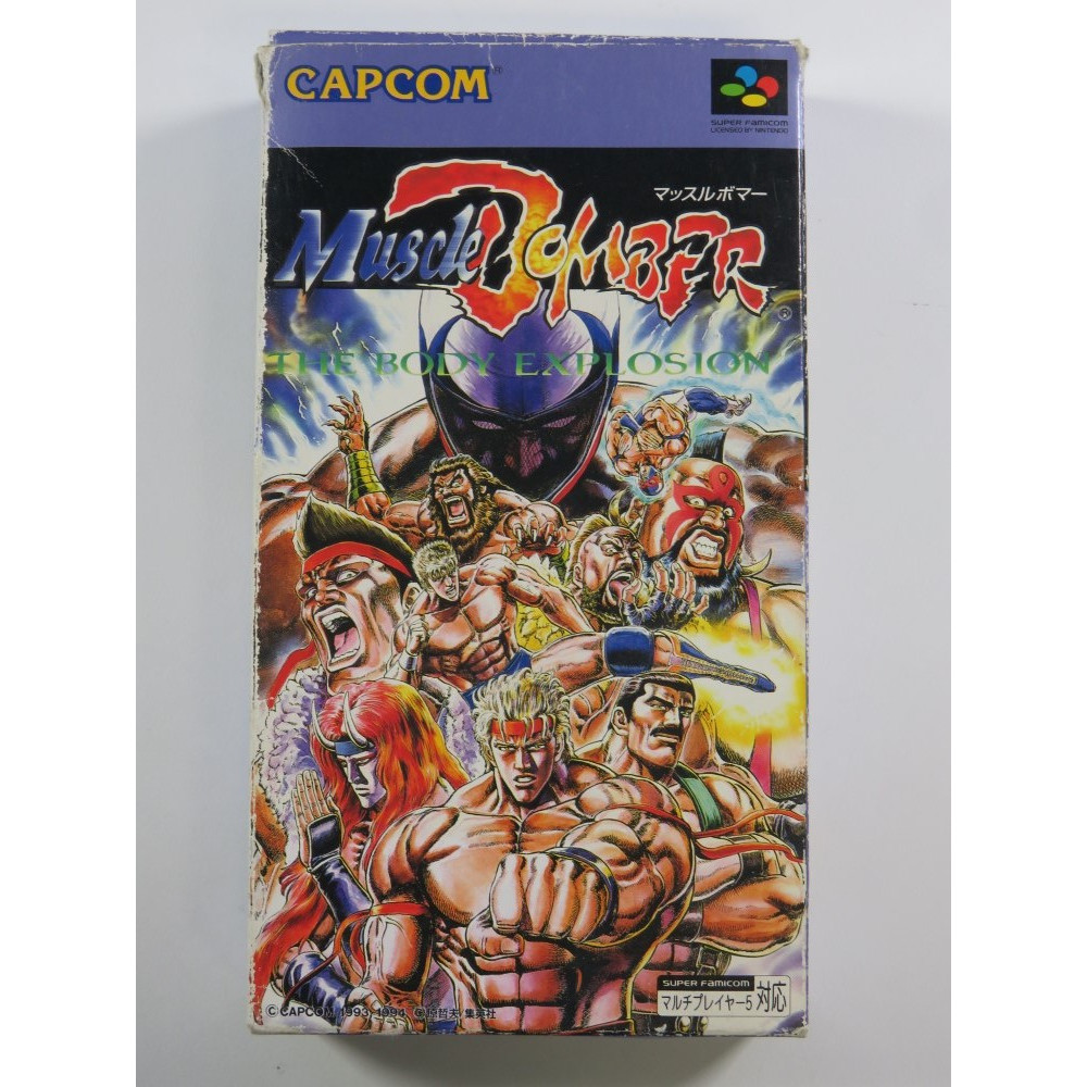 MUSCLE BOMBER : THE BODY EXPLOSION SUPER FAMICOM (SFC) NTSC-JPN (COMPLETE - GOOD CONDITION OVERALL )