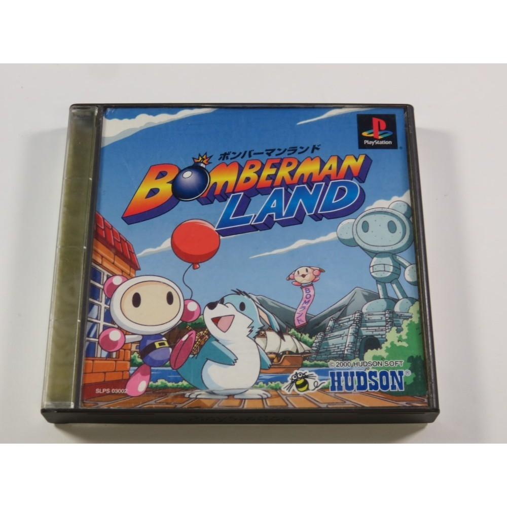 BOMBERMAN LAND PLAYSTATION (PS1) NTSC-JPN (COMPLETE - GOOD CONDITION OVERALL)