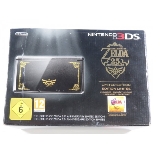 CONSOLE 3DS NOIRE LEGEND OF ZELDA 25TH ANNIVERSARY PAL-EURO (COMPLETE WITH GAME - OVERALL GREAT CONDITION)