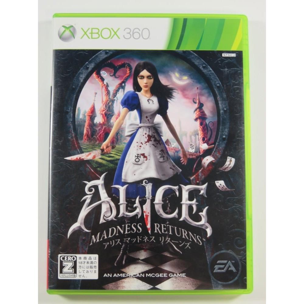 ALICE MADNESSS RETURNS XBOX360 NTSC-JPN (REGION LOCK)