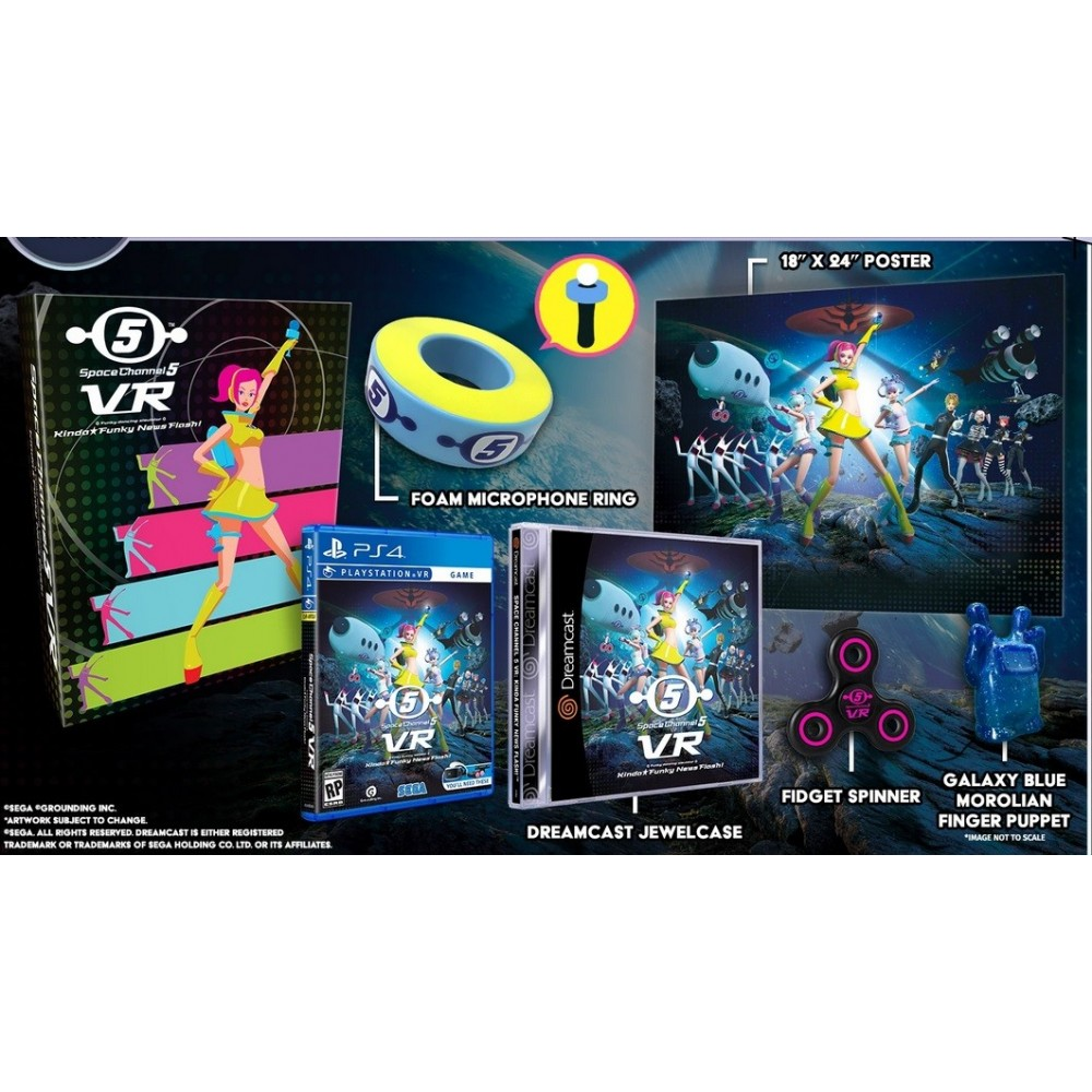 SPACE CHANNEL 5 VR KINDA FUNKY NEWS FLASH COLLECTOR PS4 US NEW (LIMITED RUN GAMES)