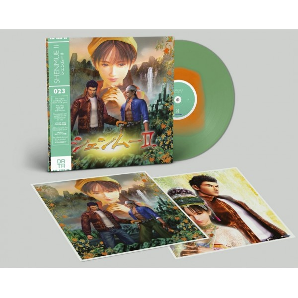 VINYLE SHENMUE II TRANSLUCENT GREEN WITH ORANGE LIMITED EDITION DATA-DISCS 023 NEW