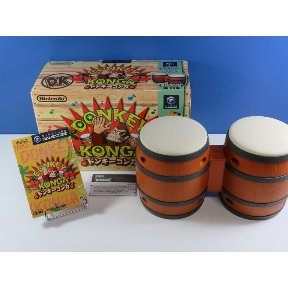 DONKEY KONGA (WITH DRUM CONTROLLER) NINTENDO GAMECUBE NTSC-JPN (COMPLET - VERY GOOD CONDITION)