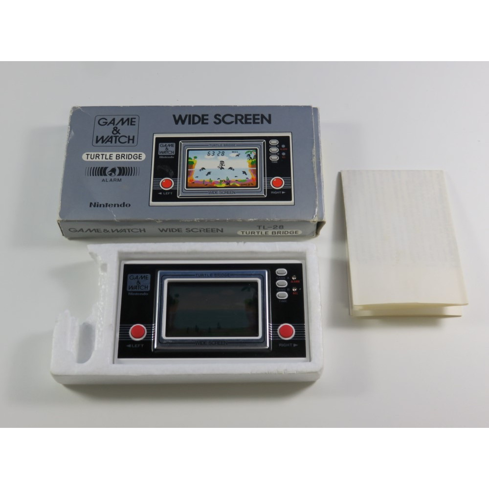GAME & WATCH TURTLE BRIDGE TL-28 EURO (UK) (BOXED) (WITHOUT MANUAL - WITH FR MANUAL - GOOD CONDITION)(SERIAL - 12201705)