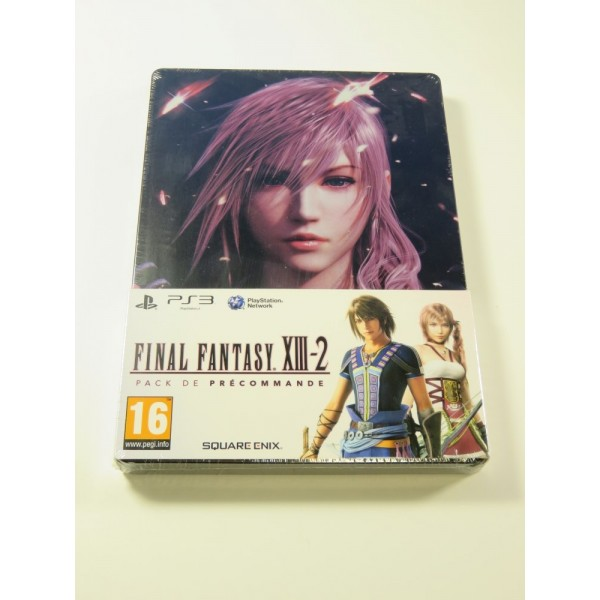 FINAL FANTASY XIII-2 PACK DE PRECOMMANDE (STEELBOOK ONLY) PLAYSTATION 3 (PS3) FR NEUF - BRAND NEW