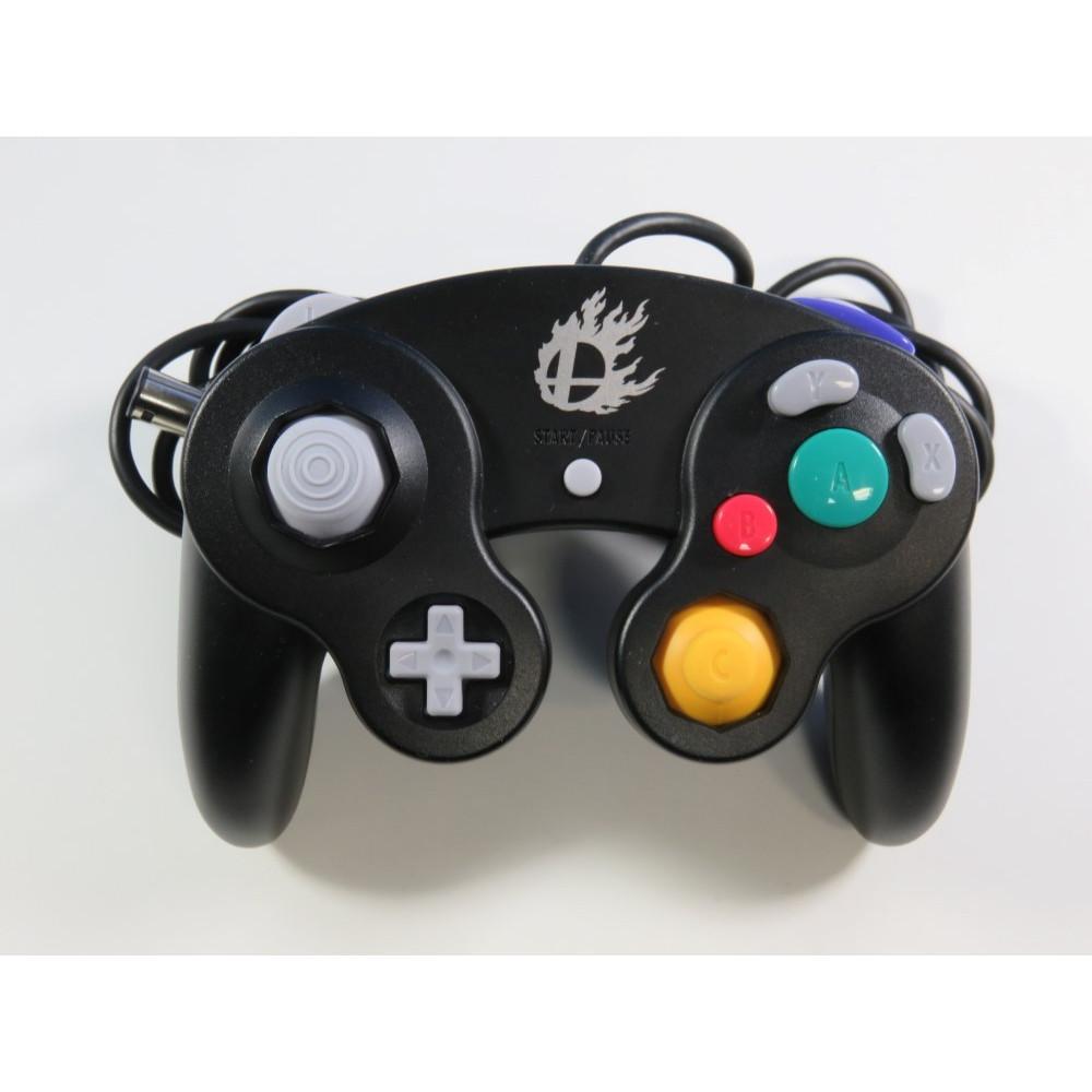 CONTROLLER GAMECUBE SUPER SMASH BROS NOIR (SANS BOITE - WITHOUT BOX) - (GREAT CONDITION)