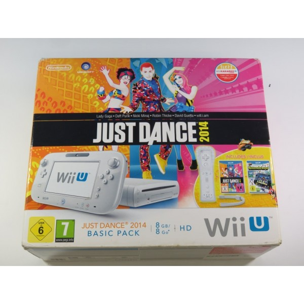 CONSOLE WIIU BLANCHE 8GO BUNDLE JUST DANCE 2014 PAL-EURO (COMPLETE - GOOD CONDITION)