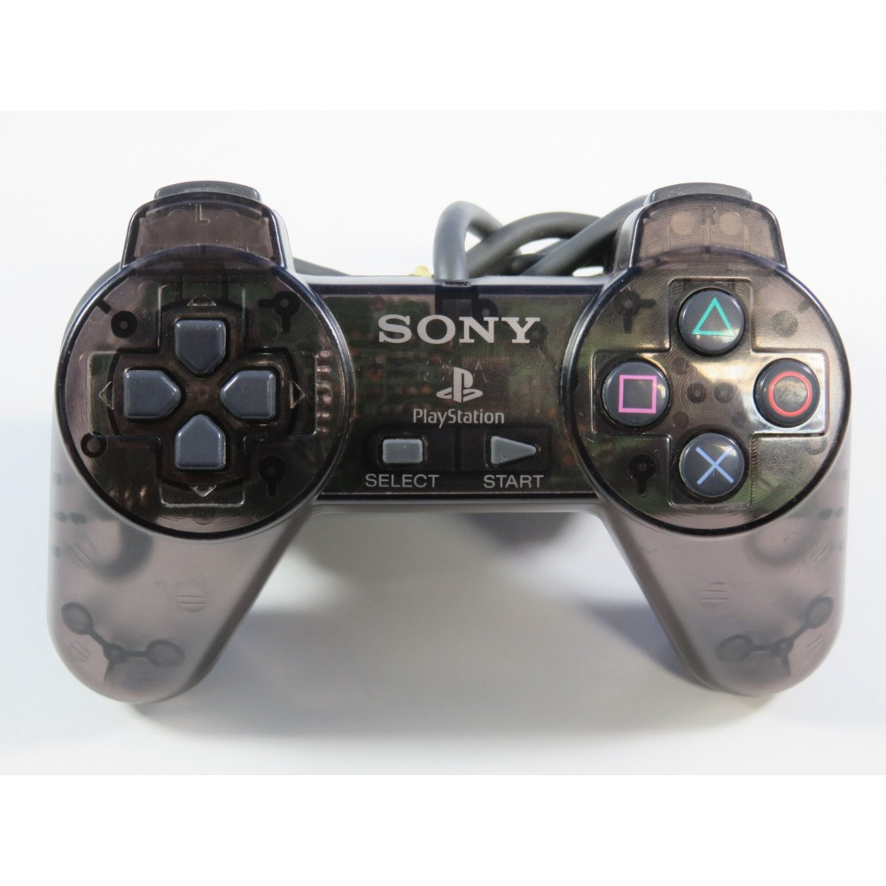 CONTROLLER - MANETTE PS1 OFFICIAL PLAYSTATION 1 SMOKE GREY (PS1) EURO (CONTROLLER ONLY - GOOD CONDITION)