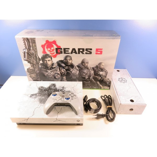 CONSOLE XBOX ONE X 1TO GEARS OF WAR 5 LIMITED PAL-EURO (COMPLET - GOOD CONDITION)(GAME DOWNLOWDS ALREADY USED)