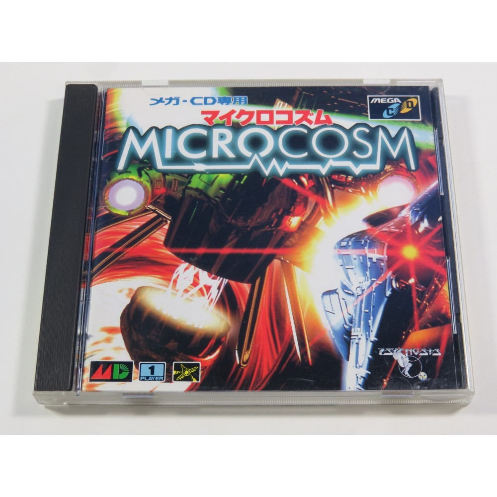 MICROCOSM MEGA CD NTSC-JPN (COMPLETE WITH SPIN CARD AND REG CARD - GOOD CONDITION)
