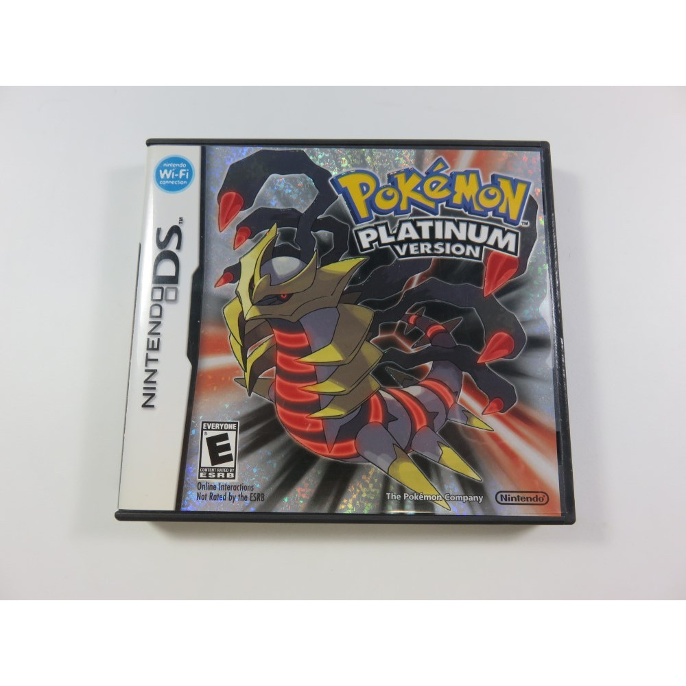 POKEMON - PLATINUM VERSION NINTENDO DS (NDS) USA (COMPLET - VERY GOOD CONDITION)(TEXTS IN ENGLISH)