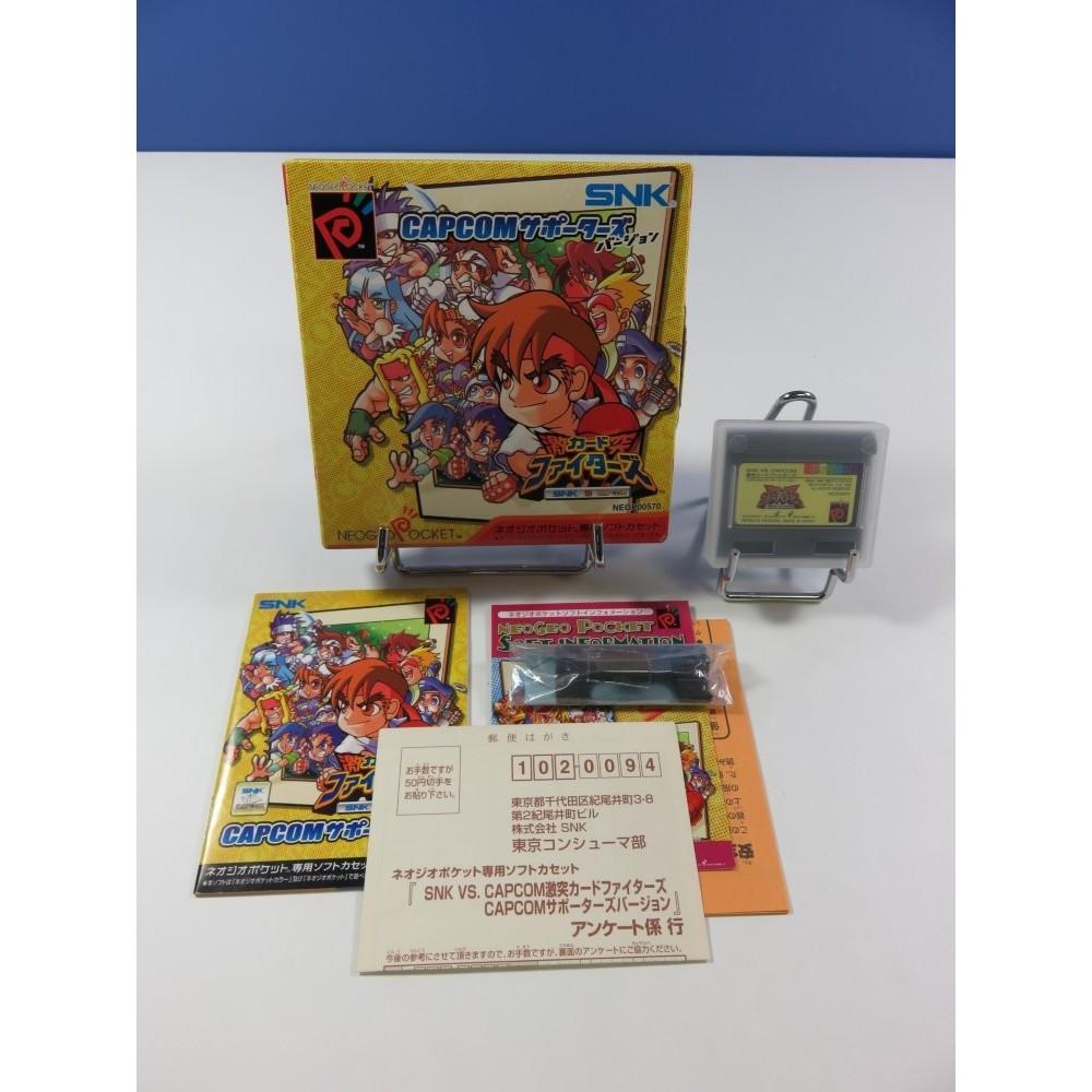 SNK VS. CAPCOM: CARD FIGHTER S CLASH: CAPCOM VER. SNK NEO GEO POCKET JPN (COMPLET - GOOD CONDITION OVERALL)