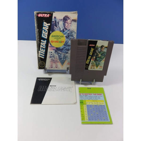 METAL GEAR NINTENDO (NES) REV-A NTSC-USA (COMPLET - GOOD CONDITION OVERALL)(WITH MINI MAP)