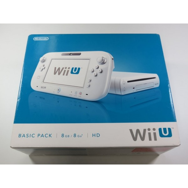 CONSOLE WIIU BASIC PACK WHITE 8 GB PAL-EURO (COMPLETE - GOOD CONDITION OVERALL)