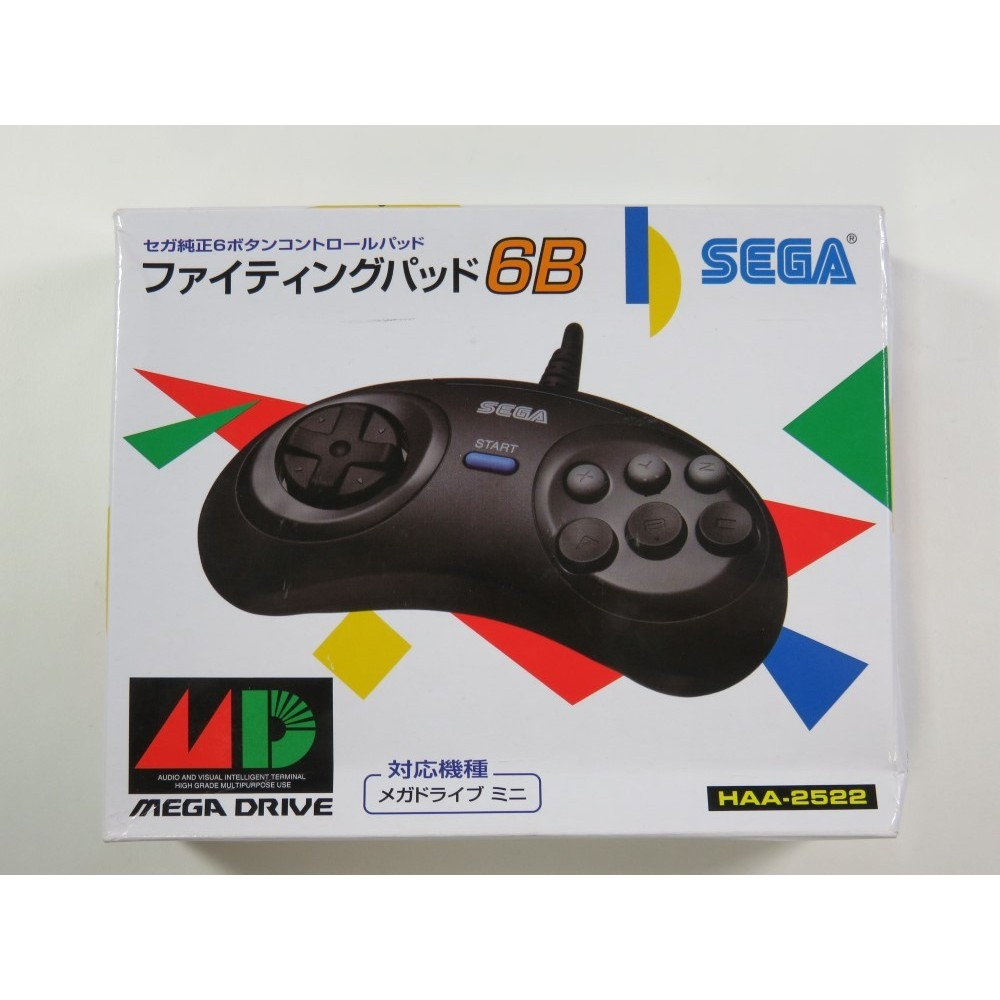 CONTROLLER FIGHTING PAD 6B JAPAN LIMITED EDITION - MEGA DRIVE MINI- MANETTE 6 BOUTONS (COMPLETE-GOOD CONDITION)