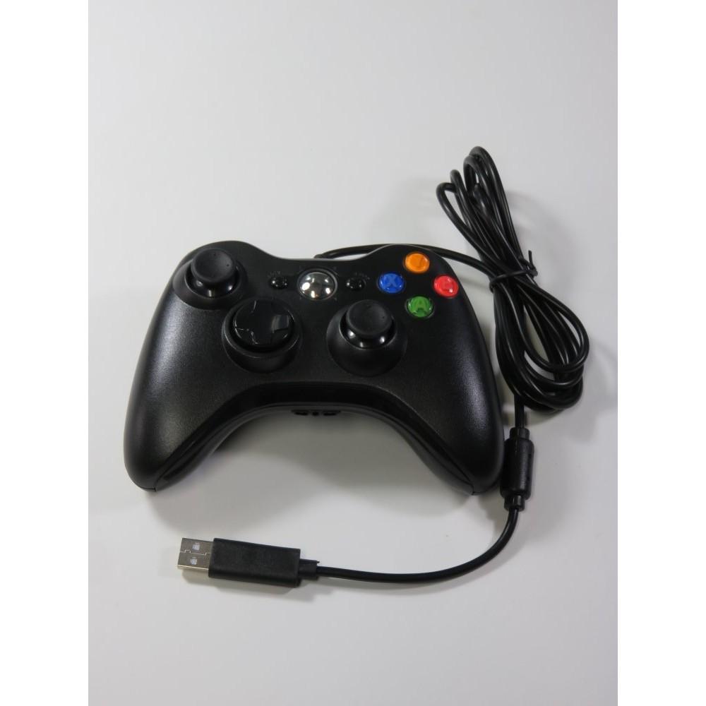 CONTROLLER - MANETTE FILAIRE XBOX 360 (X360) BLACK NON OFFICIELLE - GENERIQUE EURO NEUF - BRAND NEW