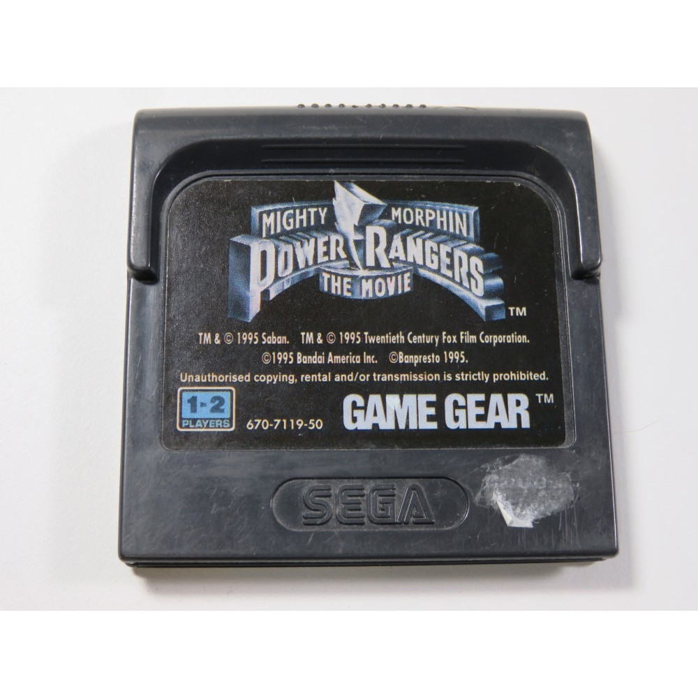 MIGHTY MORPHIN POWER RANGERS THE MOVIE GAME GEAR EURO (CARTRIDGE ONLY)