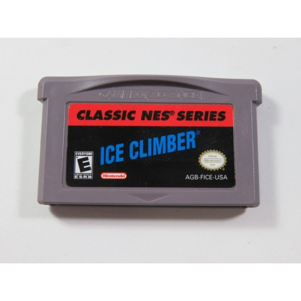 ICE CLIMBER NES CLASSICS GAMEBOY ADVANCE (GBA) USA (CARTRIDGE ONLY - GOOD CONDITION)