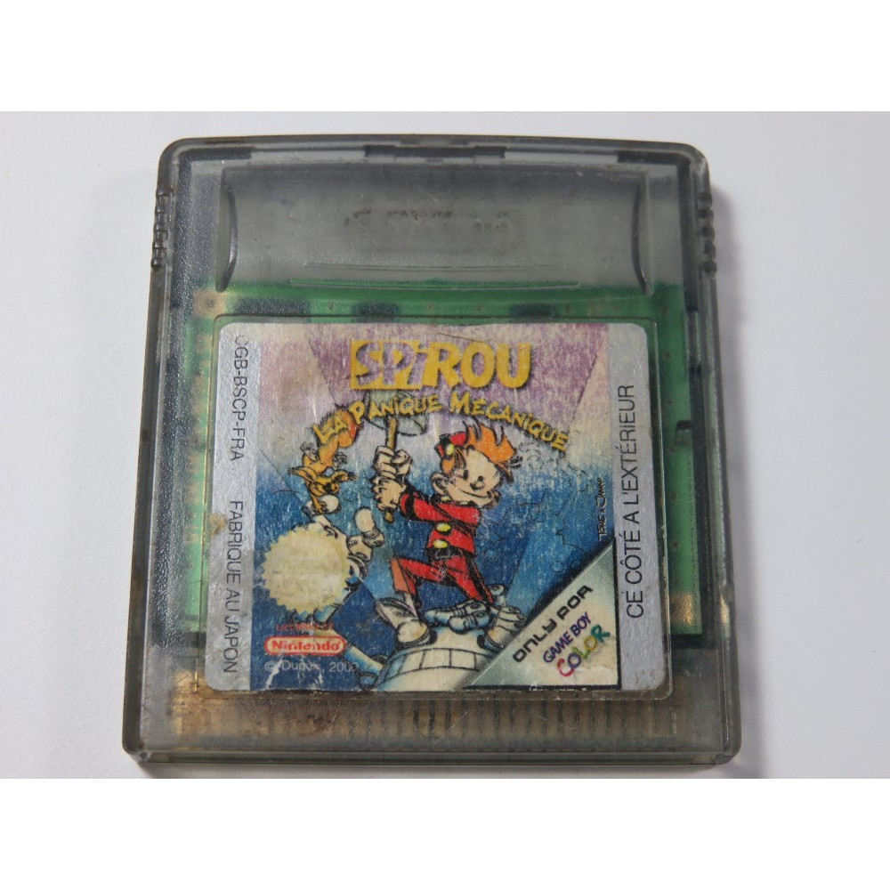 SPIROU - LA PANIQUE MECANIQUE GAMEBOY COLOR (GBC) FRA (CARTRIDGE ONLY)