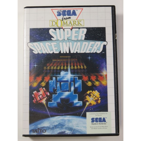 SUPER SPACE INVADERS SEGA MASTER SYSTEM PAL-EURO (SANS NOTICE - GOOD CONDITION) TAITO SHOOTING 1991