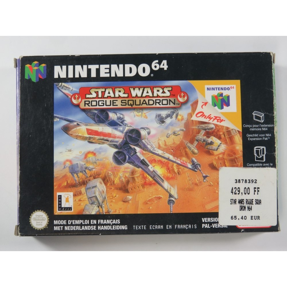 STAR WARS ROGUE SQUADRON NINTENDO 64 (N64) PAL-NFAH (SANS NOTICE - WITHOUT MANUAL)