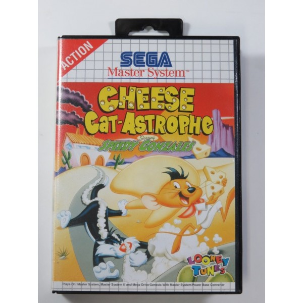 CHEESE CAT-ASTROPHE STARRING SPEEDY GONZALES SEGA MASTER SYSTEM (SANS NOTICE-WITHOUT MANUAL) - (GOOD CONDITION OVERALL)