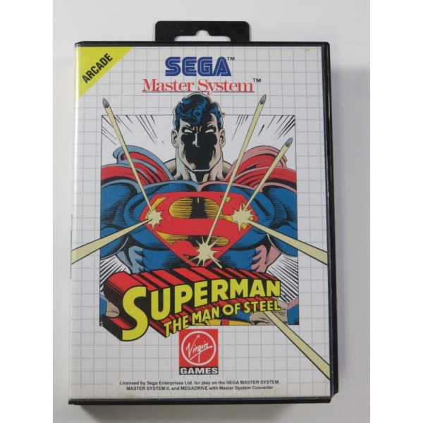 SUPERMAN THE MAN OF STEEL SEGA MASTER SYSTEM PAL-EURO (COMPLETE - GOOD CONDITION)