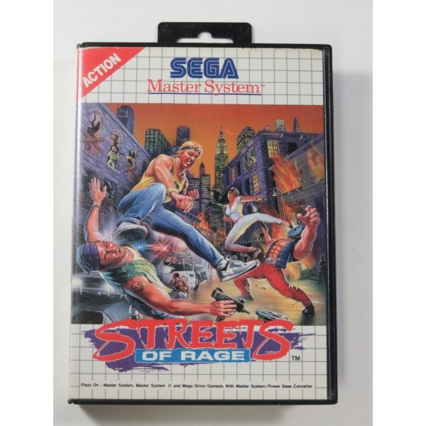 STREETS OF RAGE SEGA MASTER SYSTEM PAL-EURO (SANS NOTICE - WITHOUT MANUAL) - (GOOD CONDITION OVERALL)