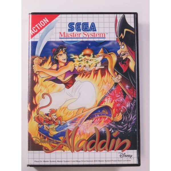 ALADDIN SEGA MASTER SYSTEM PAL-EURO (SANS NOTICE - WITHOUT MANUAL) - (GOOD CONDITION OVERALL)