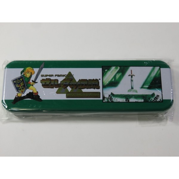 PENCIL CASE THE LEGEND OF ZELDA A LINK TO THE PAST BANDAI 1992 TROUSSE METAL JAPAN NEW