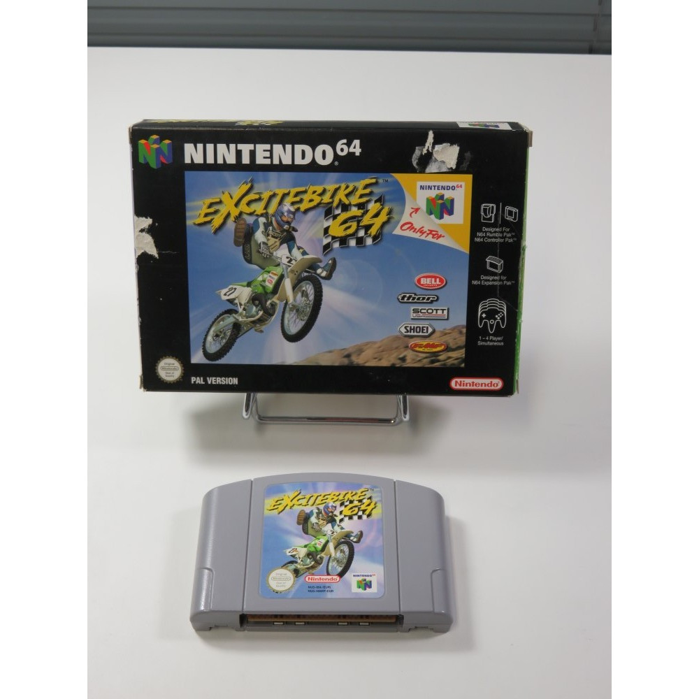 EXCITEBIKE 64 NINTENDO 64 (N64) (WITHOUT MANUAL - GOOD CONDITION) (MOTOCROSS)