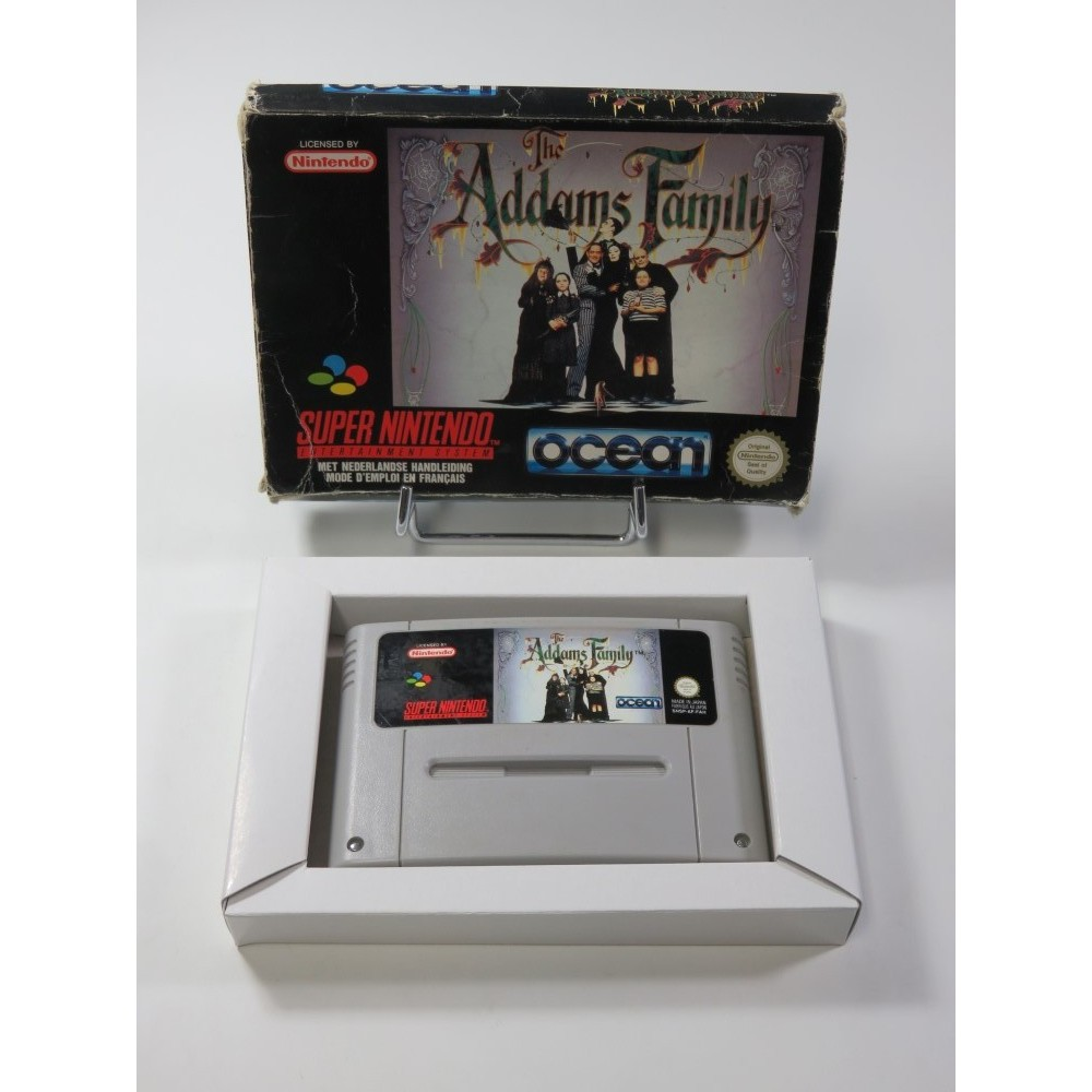 THE ADDAMS FAMILY SUPER NINTENDO (SNES) PAL-FAH (WITHOUT MANUAL - GOOD CONDITION OVERALL)