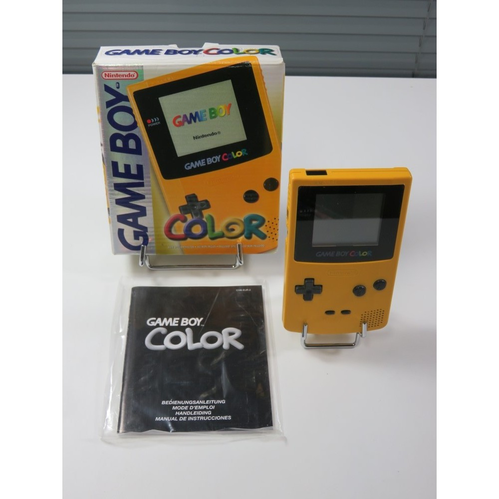 CONSOLE GAMEBOY COLOR (GBC) CBG-01 YELLOW EUR (COMPLETE - GOOD CONDITION)
