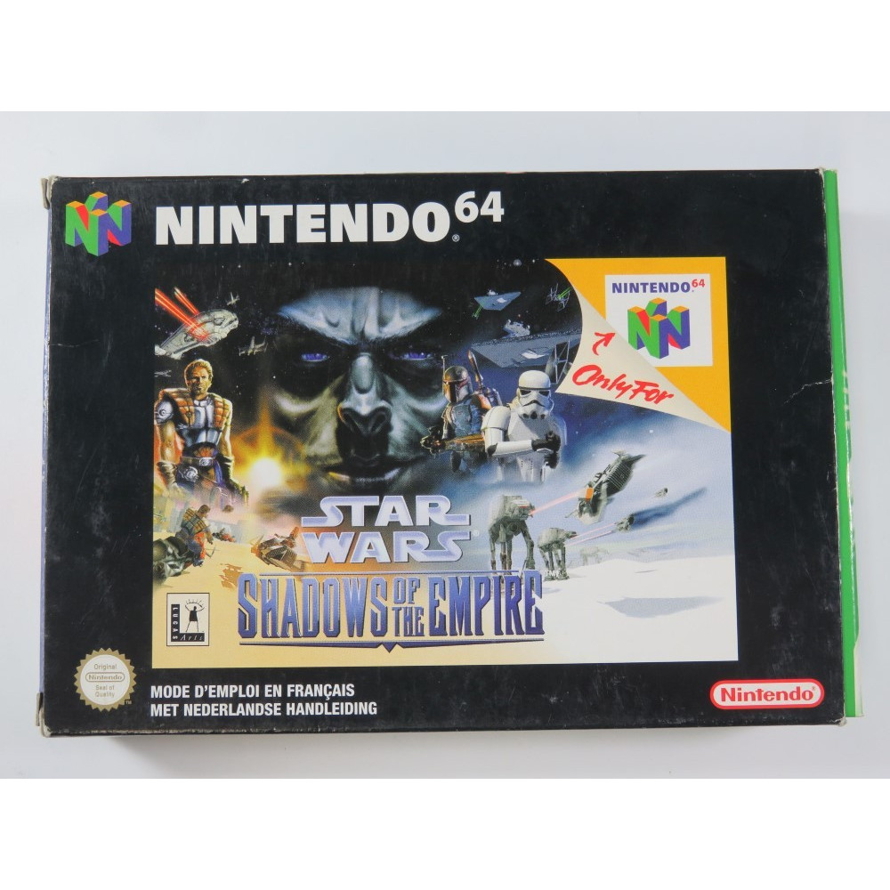 STAR WARS - SHADOWS OF THE EMPIRE NINTENDO 64 (N64) PAL-NFAH (COMPLETE - GOOD CONDITION) (LUCAS ARTS 1996)