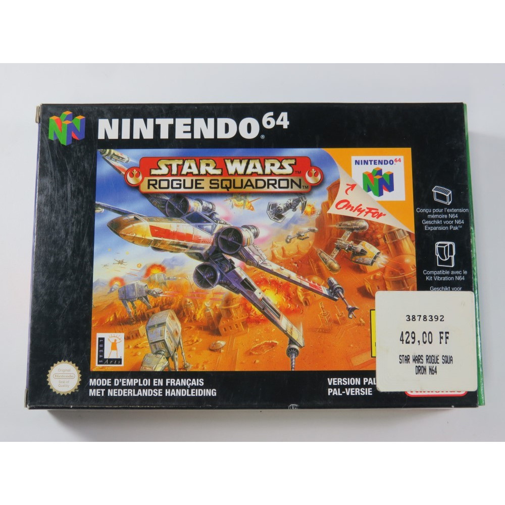 STAR WARS ROGUE SQUADRON NINTENDO 64 (N64) PAL-NFAH (COMPLETE - VERY GOOD CONDITION)