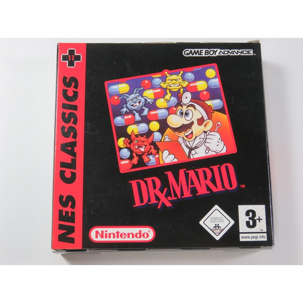 DR MARIO GAMEBOY ADVANCE (GBA) (NES CLASSICS 11) NEU6 (COMPLETE - VERY GOOD CONDITION)